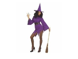 Boszorkány ruha - lila M-es