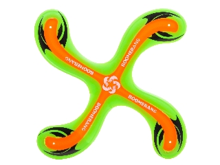 Bumeráng zöld-narancssárga