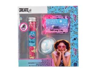 Create it! Pihentető fürdőszett, csillámló galaxis színekkel