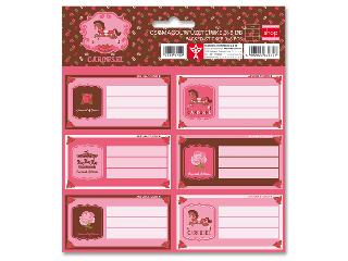 Carousel csomagolt füzetcímke (3x6 db)