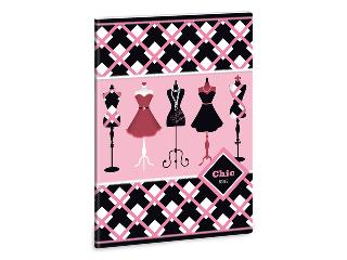 Chic notes - boutique A/5-ös füzet sima