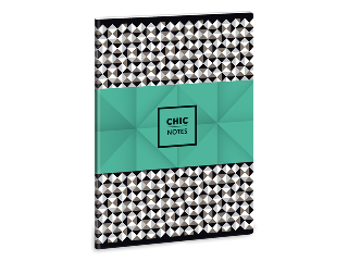 Chic notes - pepita A/5-ös füzet sima