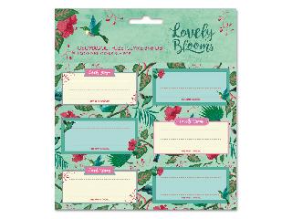 Chirping garden csomagolt füzetcímke (3x6 db)