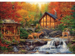 Chuck Pinson: Erdei jelenet (The Colors of Life) 3000 db-os puzzle