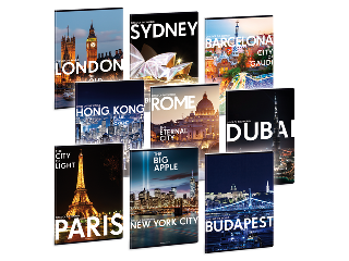 Cities - Világ városai füzet A/4 kockás