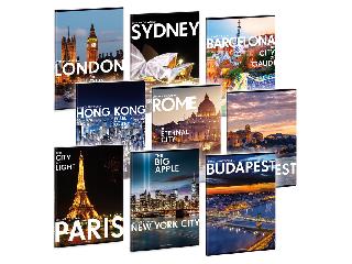 Cities - Világ városai füzet A/4 sima