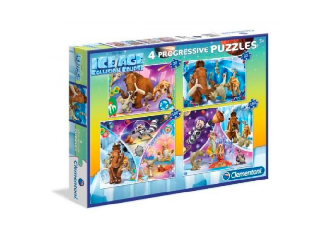 Clementoni Puzzle 4in1 20+60+100+180 db-os - Jégkorszak