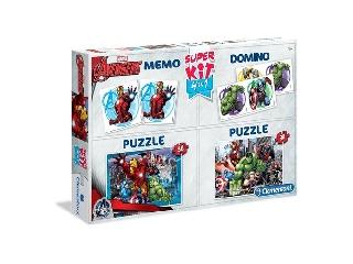 Clementoni Puzzle - Bosszúállók 4in1 - 2x30db-os puzzle+memória+dominó