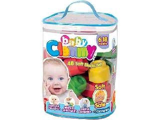 Clemmy Baby - Puha építőjáték szett táskában - 48 db-os