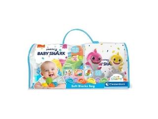Clemmy Baby Shark soft építőkocka szett