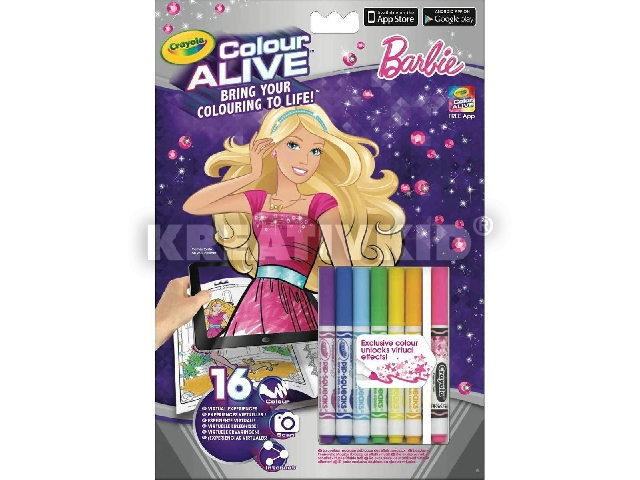 Color Alive Szupersztár Barbie interaktív kifestő