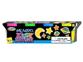 Creativ Kids - Kiddy Dough sötétben világító gyurma 4 db-os szett