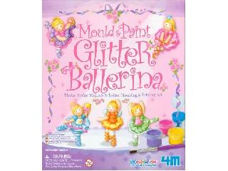 Csillogó balerina gipszkiöntő készlet
