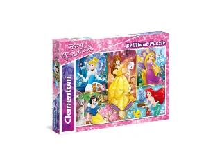 Csillogó puzzle 104 db-os - Hercegnők