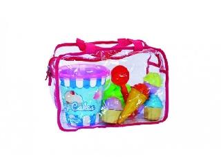 Cukrász szett táskában homokozó készlet