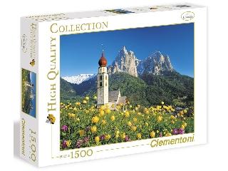 Dél-Tirol: tájkép templommal 1500 db-os puzzle