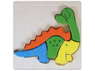 Dinoszaurusz 5 darabos fa puzzle
