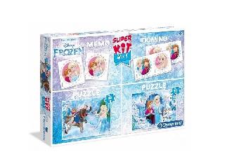 Disney Jégvarázs 4in1 - 2 db 30 db-os puzzle+memóriajáték+domino