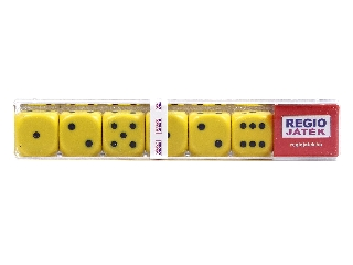 Dobókocka 6 darabos készlet - sárga