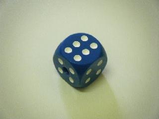 Dobókocka 6 darabos készlet - kék