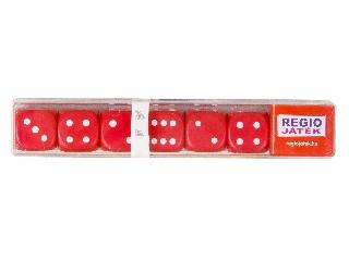 Dobókocka 6 darabos készlet - piros