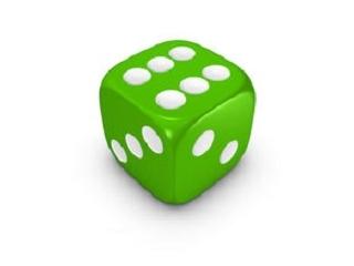 Dobókocka 6 darabos készlet - zöld
