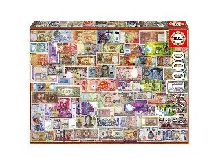Educa A világ bankjegyei puzzle, 1000 darabos