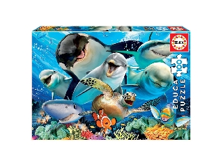 Educa Állati szelfi puzzle, 100 darabos