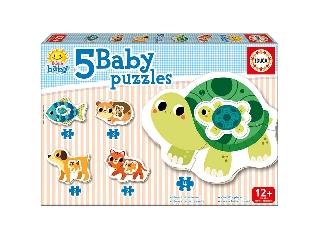 Educa állatok bébi puzzle, 5 az 1-ben