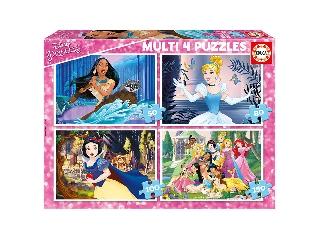 Educa Disney hercegnők puzzle, 4 az 1-ben