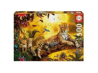 Educa leopárd és a kölykei puzzle, 500 darabos