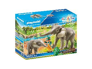 Elefántok szabad kifutón
