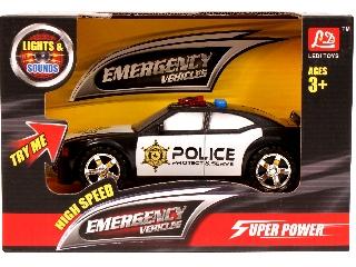 Elemes rendőrautó hanggal és fénnyel