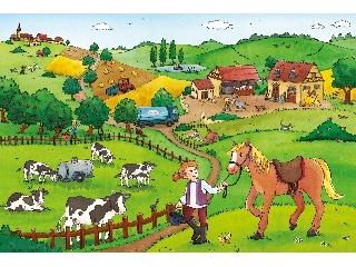 Élet a tanyán - 2 x 12 db-os puzzle