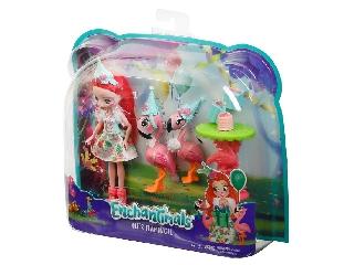 Enchantimals baba állatkával - Fancy Flamingo játékszett