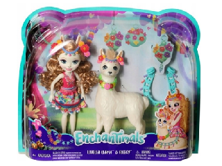 Enchantimals baba lámával - Lluella Llama és Fleecy