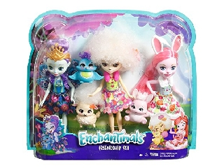 Enchantimals babák állatkáikkal - 3-as csomag