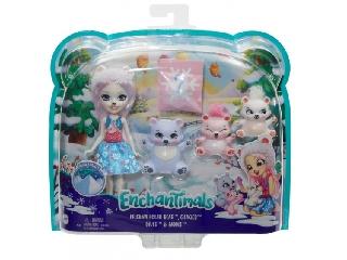 Enchantimals - Pristina Polar Bear állat családdal