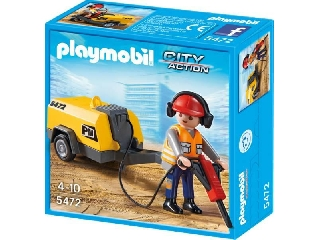 Építőmunkás légkalapáccsal 5472
