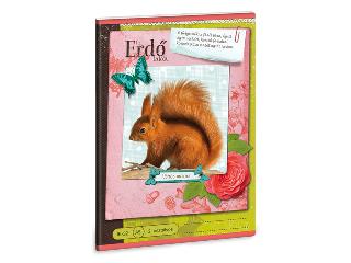 Erdő - Vörös mókus A/5-ös 2. oszt. vonalas füzet