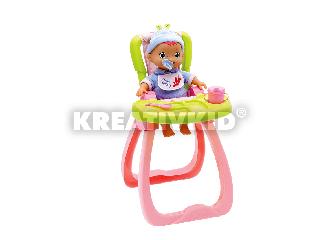Játék etetőszék babával, kiegészítőkkel