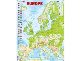 Európa domborzati térképe K70