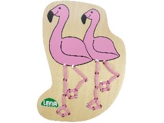 Fa fűzősjáték Flamingó