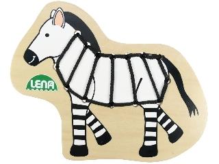 Fa fűzősjáték zebra