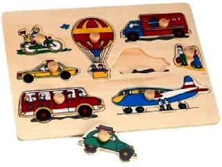 Fa puzzle Járművek 8 darabos