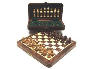 Fa sakk-készlet mágneses 20x10 cm-es