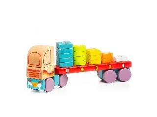 Fa teherautó kockákkal