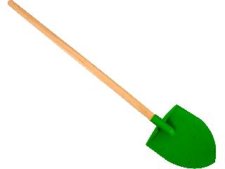 Fanyelű műanyag ásó - 63 cm, zöld