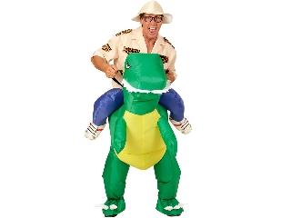 Felfedezés dinoszaurusszal felfújható jelmez