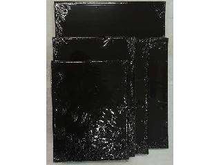 Feszített vászon fekete  24 X 30 cm 280 g/m2